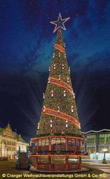 Durchmesser Weihnachtsbaum.Cranger Weihnachtszauber 2018 Der Höchste Mobile Weihnachtsbaum